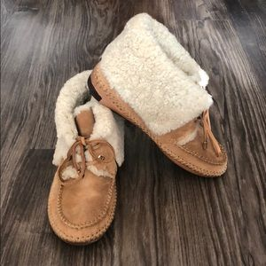 Tory Burch Moccasin Shearling Boots/Booties